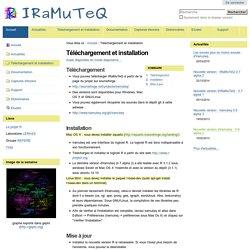 Téléchargement et installation — IRaMuTeQ