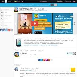 abcNotes pour 3Q Qoo! Q-book EL72B- Téléchargement gratuit Android programmes pour pour les tablettes