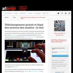 Téléchargement gratuit et légal des oeuvres des musées : le test - Art Design Tendance