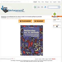 Telecharger Recherches sur la méthode dans les sciences sociales et en économie politique en particulier » TelechargementZ : Site de Telechargement Gratuit Et Rapide en Streaming VF