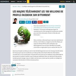Les Majors téléchargent les 100 millions de profiles Facebook sur BitTorrent - Gizmodo -