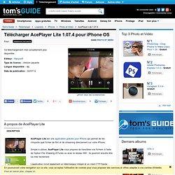 Télécharger AcePlayer Lite 1.00 (Gratuit) pour iPhone OS