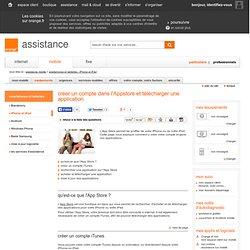 créer un compte dans l'Appstore et télécharger une application