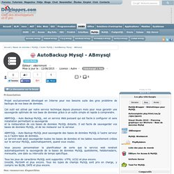 T l charger AutoBackup Mysql - ABmysql
