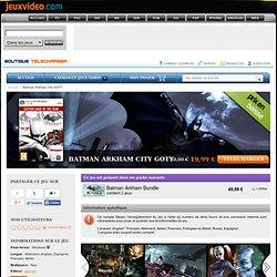 Télécharger Batman Arkham City GOTY pour PC