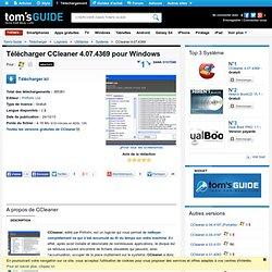 Télécharger CCleaner 3.02.1343 (Gratuit)