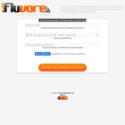 Telecharger et Convertir les videos de YouTube, Dailymotion, Metacafe : FLUVORE