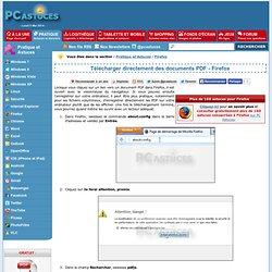 Télécharger directement des documents PDF - Firefox