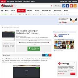 Télécharger Free Audio Editor par DVDVideoSoft Limited (gratuit)