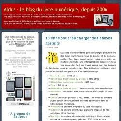 Aldus : 10 sites pour télécharger des ebooks gratuits