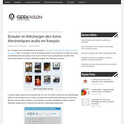 Ecouter et télécharger des livres électroniques audio en français