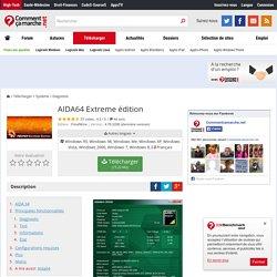 Télécharger AIDA64 Extreme édition (gratuit)
