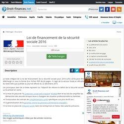 Télécharger Loi de financement de la sécurité sociale 2016 (gratuit)