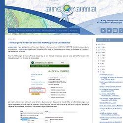 Télécharger le modèle de données INSPIRE pour la Géodatabase
