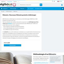MEMOIRE EXEMPLE : 800 mémoires à télécharger gratuitement