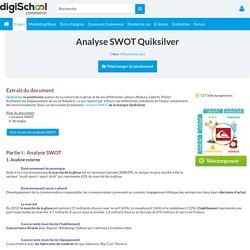 Analyse SWOT Quiksilver : Exposé à télécharger gratuitement