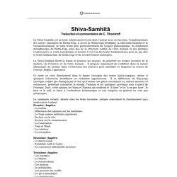Shiva-Samhita: traduction intégrale en Français à télécharger gratuitement!