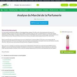 Analyse du Marché de la Parfumerie, exposé à télécharger gratuitement