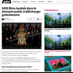 5000 films tombés dans le domaine public à télécharger gratuitement