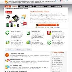 Any Video Converter Gratuit- télécharger et convertir vidéo gratuitement à AVI, MP4, WMV, MKV, MPEG...