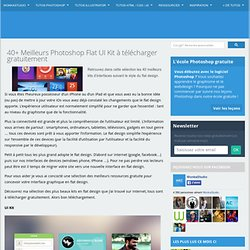 40+ Meilleurs Photoshop Flat UI Kit à télécharger gratuitement -