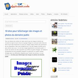 10 sites pour télécharger des images et photos du domaine public