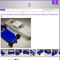 Télécharger fichier STL Ford Mustang GT500 Eleanor Slot Car Chassis modèle d'impression 3D