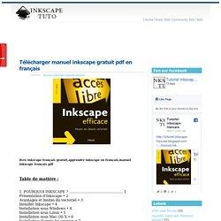Télécharger manuel inkscape gratuit pdf en français