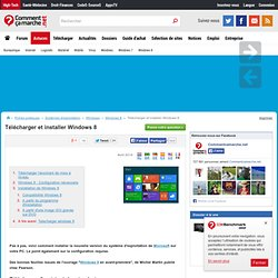 Télécharger et installer Windows 8