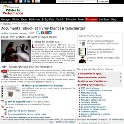 Documents, ebook et livres blancs à télécharger : PDF gratuits, entreprise, management business intelligence