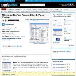 Télécharger KeePass Password Safe 2.25