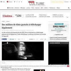 CINEMA. Des films gratuits à télécharger légalement