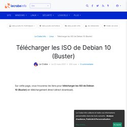 Télécharger les ISO de Debian 10 (Buster)