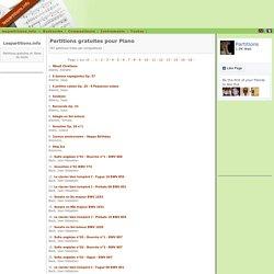 Piano - Partitions gratuites à télécharger sur lespartitions.info