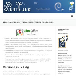 Télécharger l'interface Libreoffice des écoles