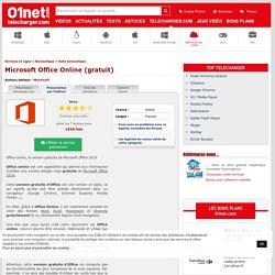 Télécharger Microsoft Office Online (gratuit) - 01net.com - Telecharger.com