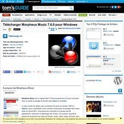 Télécharger Morpheus Music 7.6.0 (Gratuit) pour Windows