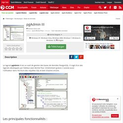 Télécharger pgAdmin III (gratuit)