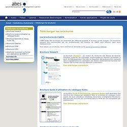 Télécharger les brochures – Publications / Evénements