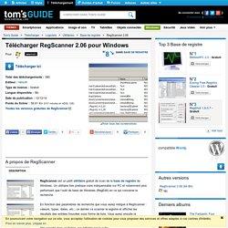 Télécharger RegScanner 2.06 (Gratuit) pour Windows