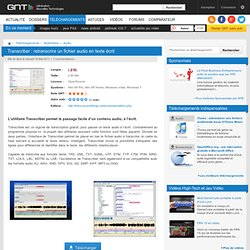 Télécharger Transcriber : retranscrire un fichier audio en texte écrit