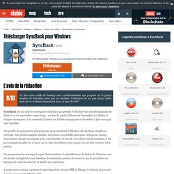 Télécharger SyncBack Gratuit : sauvegardes et synchronisations de répertoires - Clubic.com