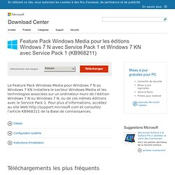 Feature Pack Windows Media - Microsoft Download Center - Download Details