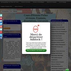 Cours Histoire à télécharger (Faculté, Licence, Master Université)