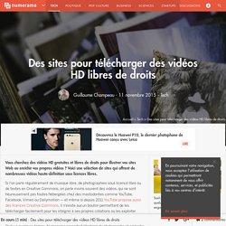 Des sites pour télécharger des vidéos HD libres de droits - Tech - Numerama