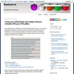 3 sites pour télécharger des images disques virtuelles VDI pour VirtualBox