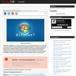 Télécharger l'image iso de Windows 7 depuis le site de Microsoft
