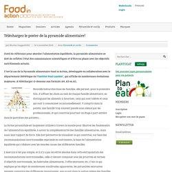 Téléchargez le poster de la pyramide alimentaire!