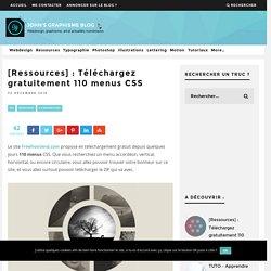 [Ressources] : Téléchargez gratuitement 110 menus CSS
