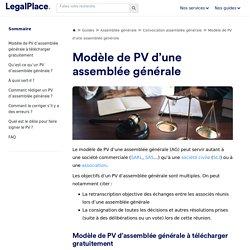 Modèle de PV d'assemblée générale